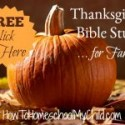 FREE Thanksgiving Bible Study