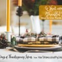 What are You Thankful For {Give Thanks at the Table}