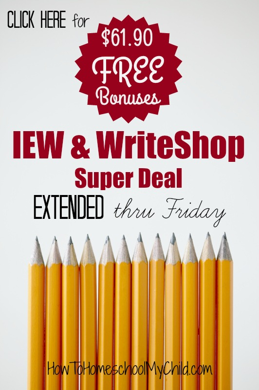 Get $61.90 FREE with this IEW Super Deal from HowToHomeschoolMyChild.com