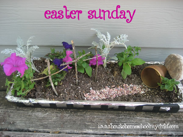 Easter Crafts - Easter Garden on Sunday