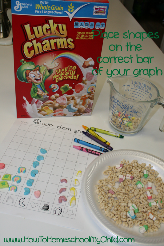 St Patricks Day Activities - Lucky Charms Graph