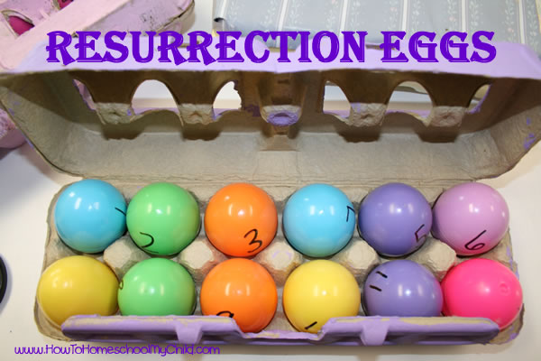 Resurrection Eggs & Easter Bible Verses - Fun Easter activities for Kids from HowToHomeschoolMyChild.com
