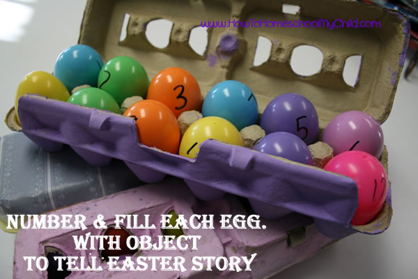 Resurrection Eggs - Fun Easter activities for Kids from HowToHomeschoolMyChild.com