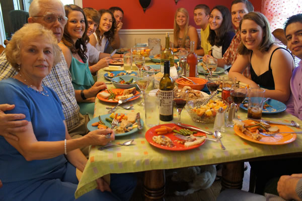 easter traditions - beck family dinner