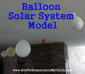 Astronomy for Kids - balloons