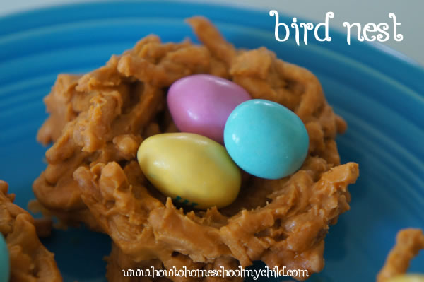 Easter Treats - Easter Birds Nests Recipe - Single Nest
