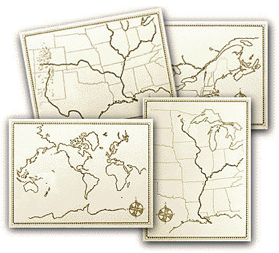Beautiful Feet Geography Map Set