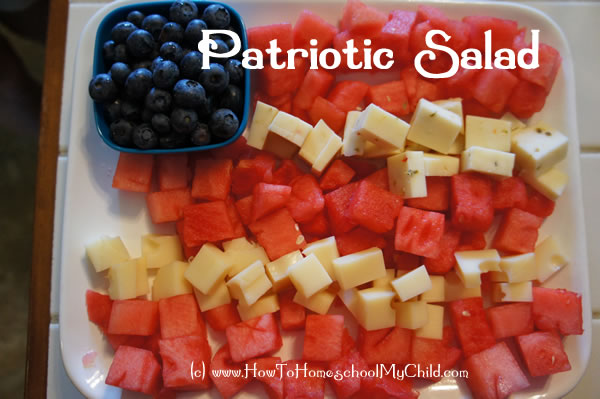 4th of July Recipes - Memorial Day Recipes -Patriotic Salad from How to Homeschool My Child.com