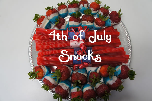 Fourth of July Crafts & Recipes - Snack platter