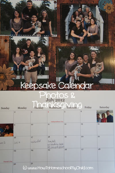 one thousand gifts - give thanks calendar