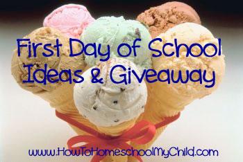 First Day of School Activities - Photos - Ideas - Homeschool