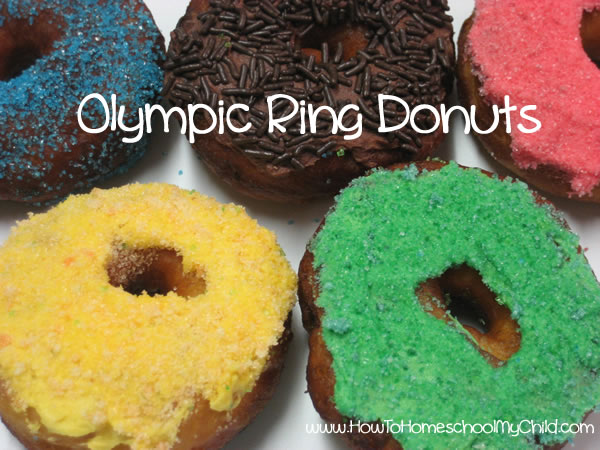 Olympic Activities for Kids - donuts close up