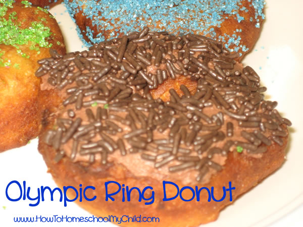 Olympic Activities for Kids - donuts sprinkles