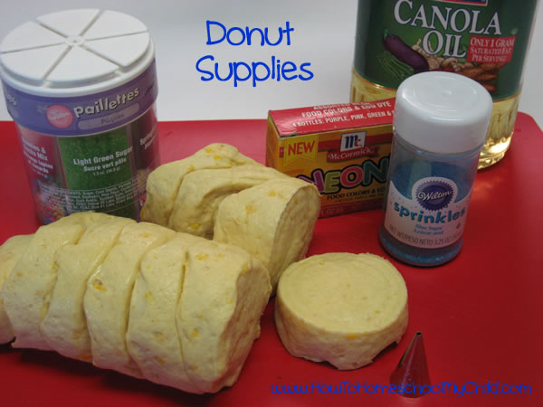 Olympic Activites for Kids - donuts supplies