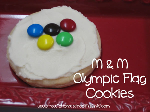 Olympic Activities for Kids - flag cookie individual
