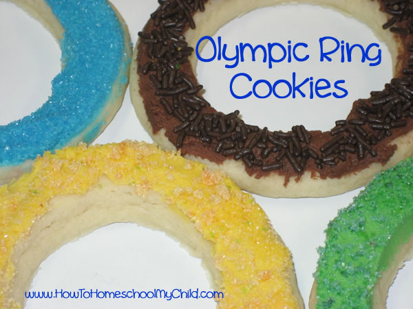 Olympic Activities for Kids - ring closeup