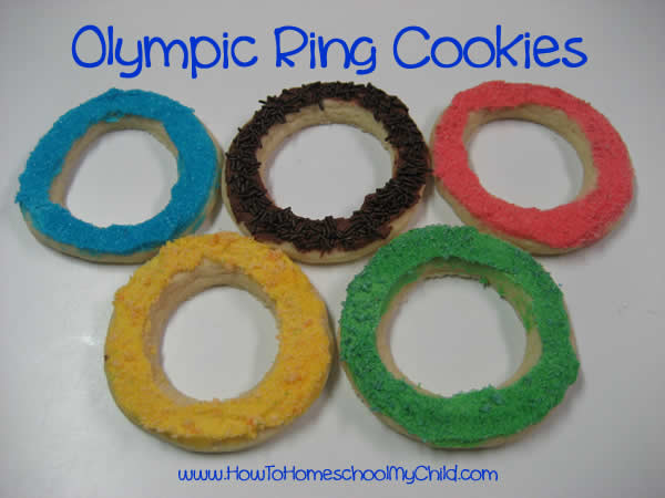 Olympic Activities for Kids - ring cookies