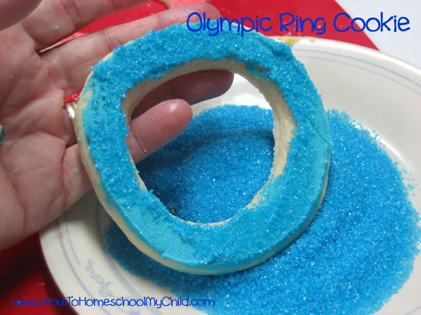 Olympic Activities for Kids - ring finished