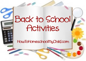 Back to School Activities Ideas Traditions