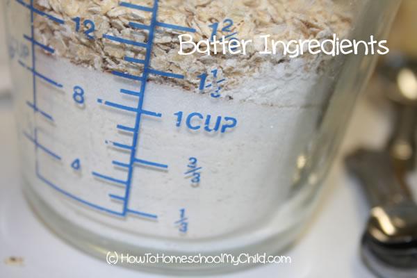 Brown Sugar Cinnamon Muffins - batter ingredients