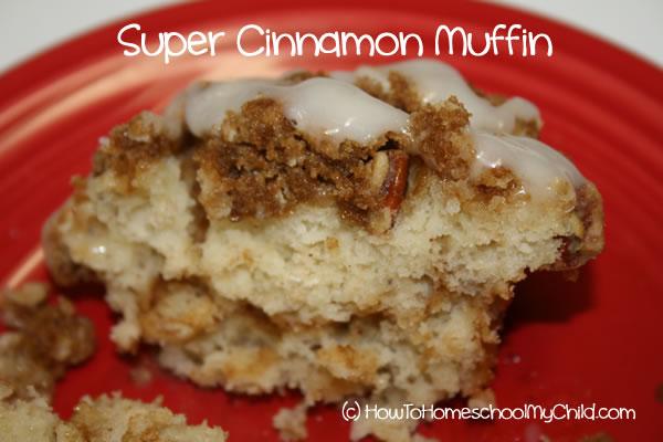 Brown Sugar Cinnamon Muffins - open muffin