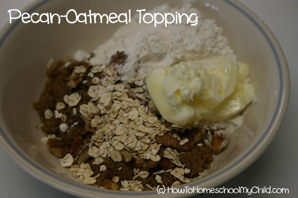 Brown Sugar Cinnamon Muffins - pecan oatmeal topping