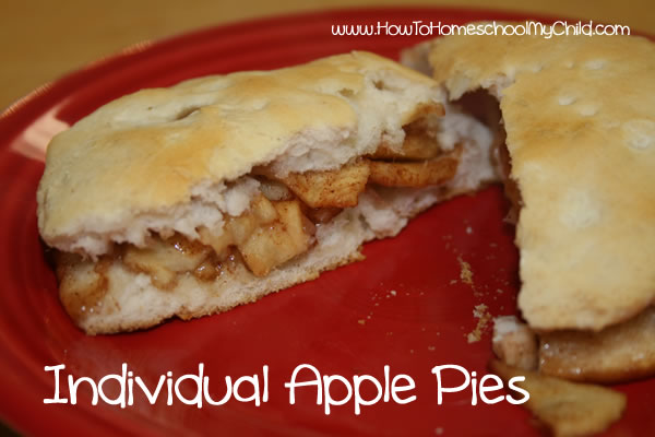 Johnny Appleseed Story & Activties - pie biscuit open