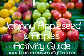 Johnny Appleseed Story - activity guide cover