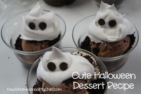 cute halloween dessert recipes 3 vanilla pudding ghosts - Pudding Halloween Desserts