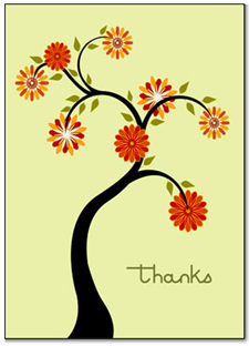 30 Days of Thanks - 30 Day Gratitude Challenge - thank you card