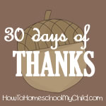 what is thanksgiving - 30 days of thanks