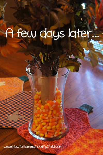fall centerpieces - day after