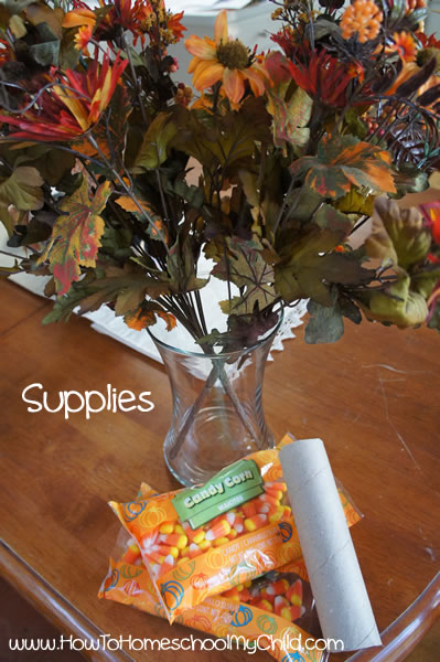 fall centerpieces supplies