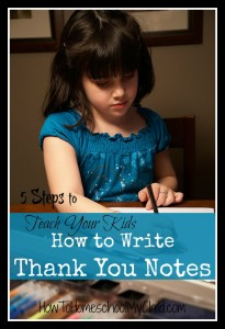 Teach your kids how to write thank you notes - a great Thanksgiving activity for you kids! ...from www.HowToHomeschoolMyChild.com