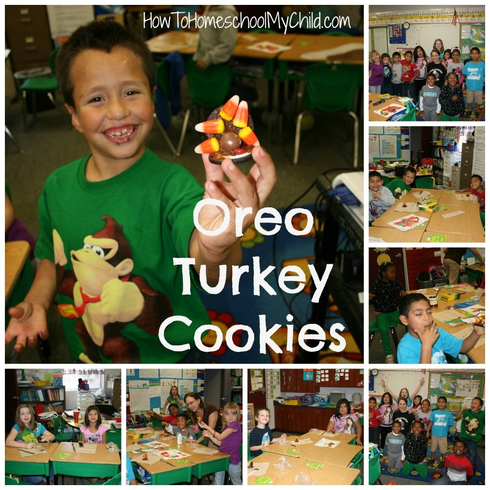 oreo turkey cookies {30 days of thanksgiving activities for kids }   ~   HowToHomeschoolMyChild.com
