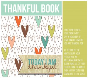 thanksgiving weekend links - 30 days of thanks - thankful book