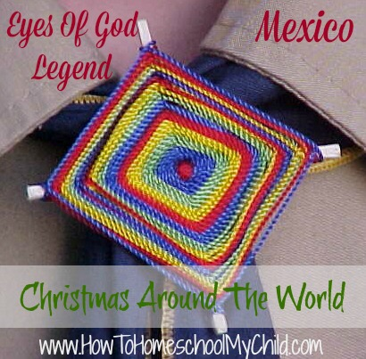 Christmas Around the World - eyes craft