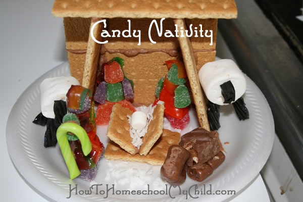 nativity craft for kids - candy nativity