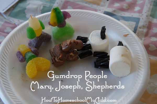 nativity craft for kids - gumdrop people