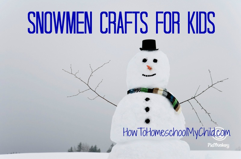 snowman crafts for kids - free activities