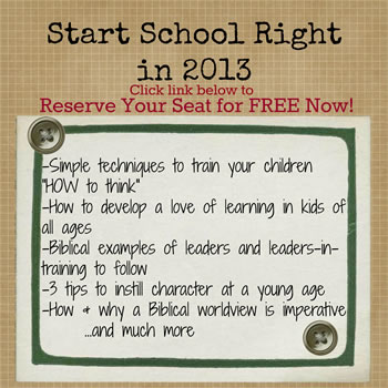start school right in 2013 - how to homeschool my child