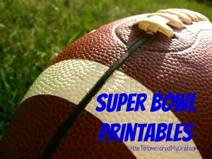 superbowl activity printables