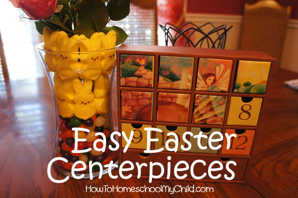 Peeps centerpiece easy easter centerpieces for kids