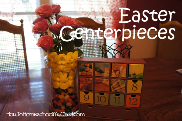 peeps easter centerpieces from How to Homeschool My Child.com