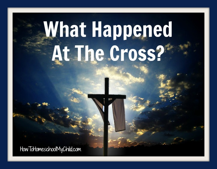 what happened with jesus on the cross ...from How to Homeschool My Child.com