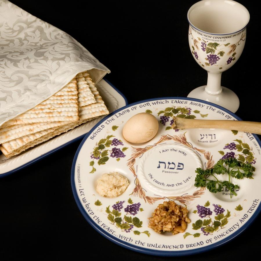 Seder Plate & Cup for celebrating Passover - includes list of Books to Read & answer What is Passover by HowToHomeschoolMyChild.com
