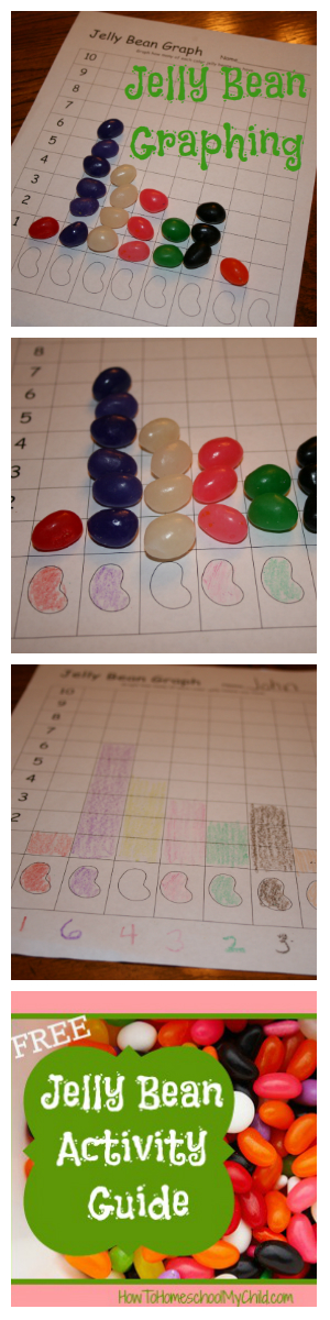 jelly bean graphing for national jelly bean day (apr 22) from How to Homeschool My Child.com