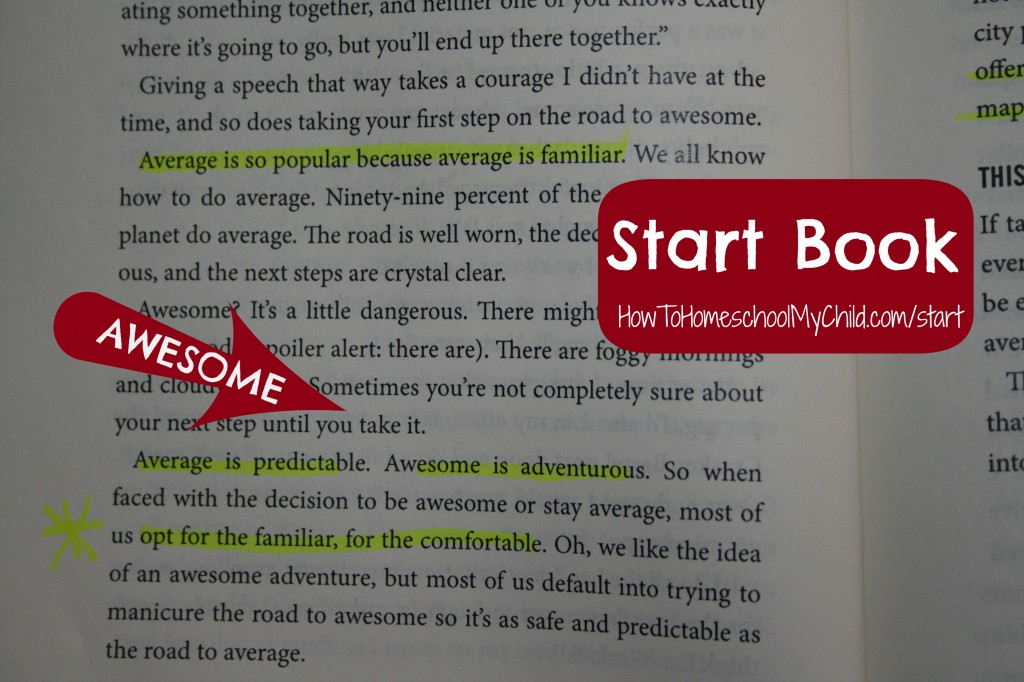 jon acuff start book-awesome from How to Homeschool My Child.com