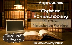 approaches to homeschooling registration from How to Homeschool My Child.com