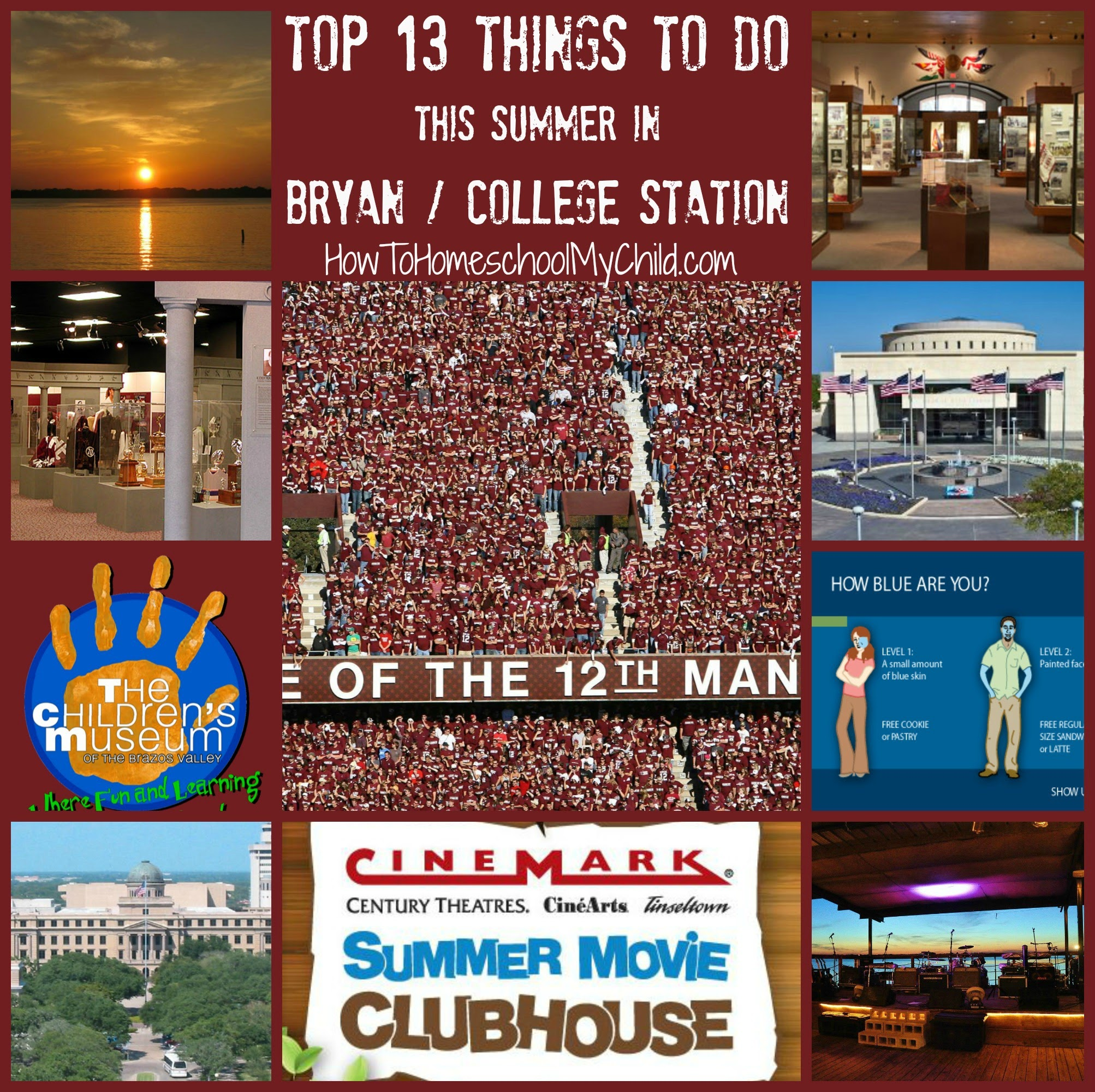 fun things to do in texas - bryan - collegestation from How to Homeschool My Child.com